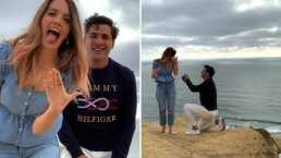 Mira la romántica propuesta de matrimonio entre Julio de 'Reik' y su novia Érika Batiz