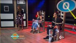 Alicia Machado y Adrián Uribe en la silla eléctrica