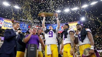 Así fue la celebración de LSU tras coronarse campeón de la NCAA sobre Clemson, con una actuación destacada de Joe Burrow.