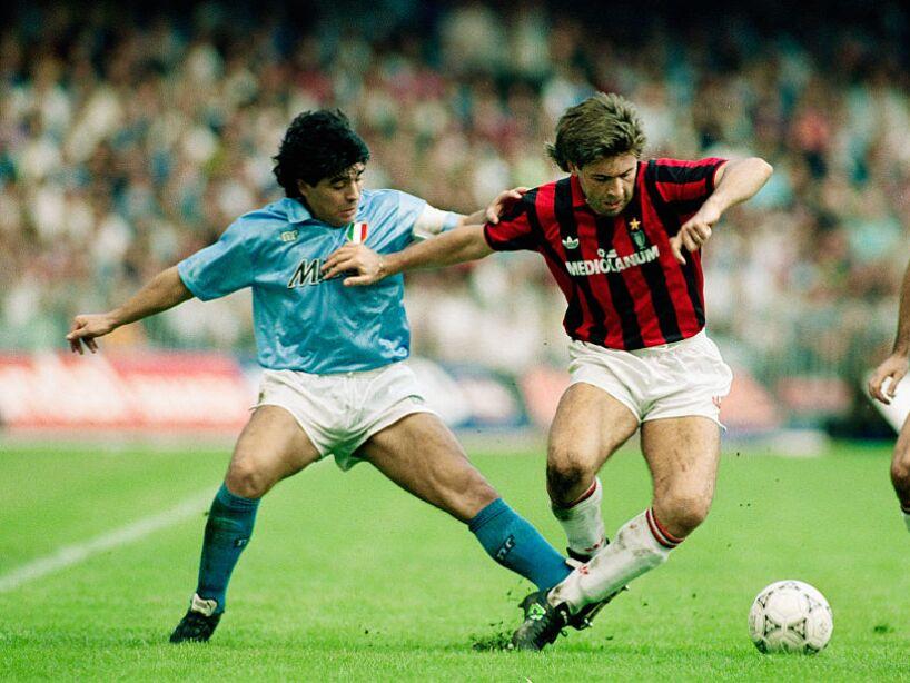 Diego Maradona and Carlo Ancelotti