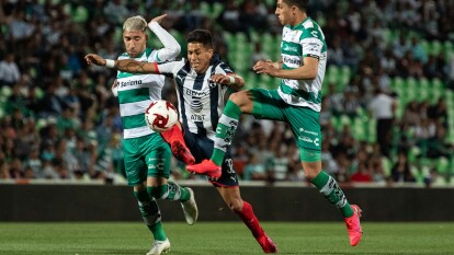 Monterrey consigue la ventaja de la localía para la vuelta tras empatar 0-0 en su visita a Santos.
