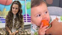 Mariana Echeverría no pudo evitar jugarle una pequeña broma a su bebito