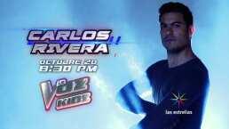 Carlos Rivera es coach en La Voz Kids