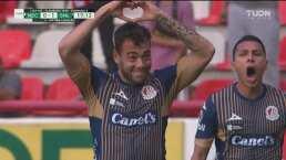 ¡Tremendo inicio del San Luis! Catalán pone el 1-0 con un cabezazo