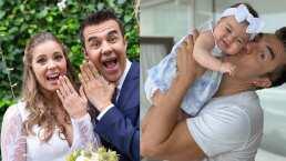 Adrián Uribe y Thuany Martins bailan muy enamorados y su hija se convierte en su fan número uno