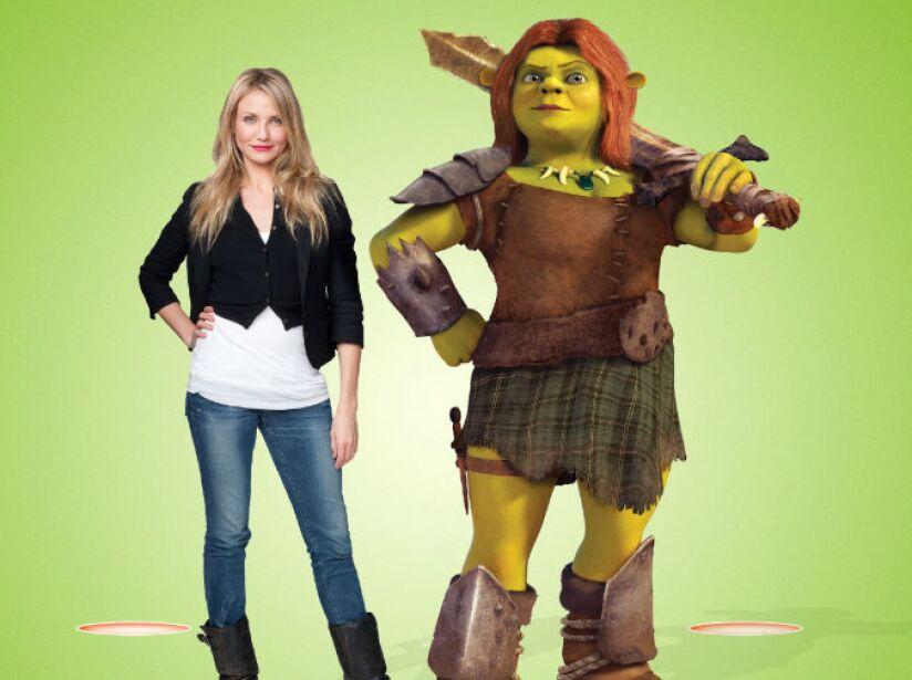 6. Cameron Diaz: Por mucho tiempo ha interpretado a la princesa Fiona en las películas de Shrek.