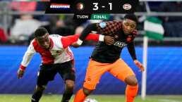 El PSV de Erick Gutiérrez cayó en Róterdam ante el Feyernood