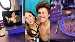 Juanpa Zurita y Macarena Achaga se disfrutan a distancia con romántica cena virtual