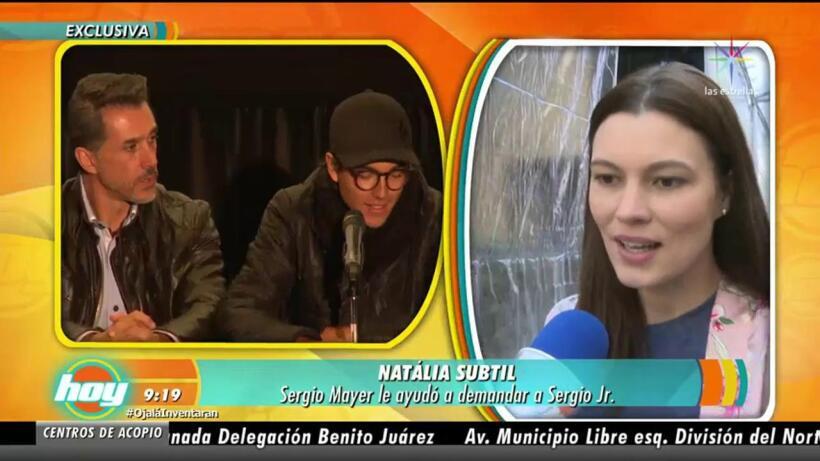 ¡Sergio Mayer ayudó a Natália Subtil a demandar a su propio hijo!