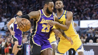 Golden State Warriors 120-125 Los Angeles Lakers