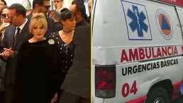 VIDEO: Anel Noreña es llevada por paramédicos tras sufrir colapso nervioso en funeral de José José