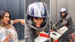 Mariazel presume su amor por las motos: Hace 'run run' al ritmo de J Balvin en TikTok