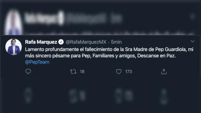 Así reaccionaron clubes y jugadores ante el sensile momento que atraviesa Pep Guardiola con el fallecimiento de su madre.