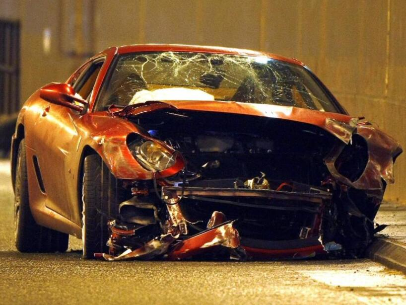 Accidentes automovilísticos de deportistas en autos lujosos