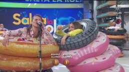 Andrea Legarreta sufre un terrible resbalón en plena transmisión del programa 'Hoy'