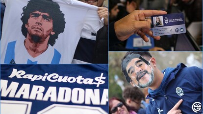 La espera terminó, Diego Maradona es presentado ante los hinchas de Gimnasia.