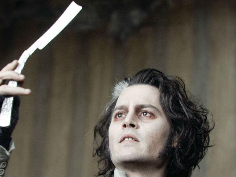 8. Sweeney Todd (2007): Depp es el infame Benjamin Barker, también conocido como Sweeney Todd.