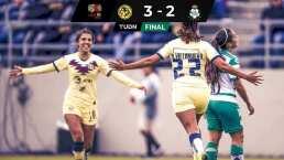 América Femenil sufrio ante Santos pero mantiene paso perfecto