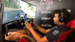 Debutó Sergio Checo Pérez como piloto de eSports en Baku