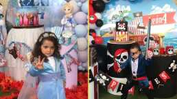 Entre piratas y princesas: Así celebraron Jorge Salinas y Elizabeth Álvarez a sus mellizos