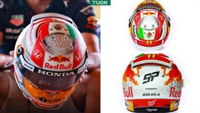 Con los colores mexicanos bien puestos, sus iniciales 'SP' y la leyenda que lo inspira para no rendirse nunca.