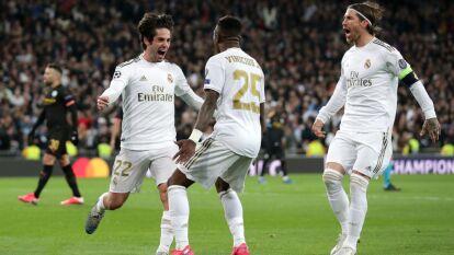 El brasileño de 19 Vinícius Junior fue el mejor juagdor del Real Madrid, dio la asistencia en el gol de Isca y salio del terreno de juego al minuto 74 para darle ingreso al galés Gareth Bale.