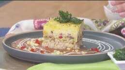RECETA: Pastel de arroz gratinado