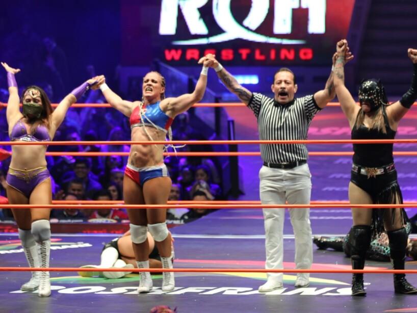 Las Amazonas del ring dieron una gran batalla en el cuadrilátero de la Arena México.