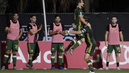 Con goles de Jermey Ebobisse y Sebastián Blanco, los Portalnd Timbers son los primeros finalistas en la MLS is Back.