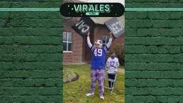 Celebra al estilo 'Bills Mafia' tras superar el cáncer