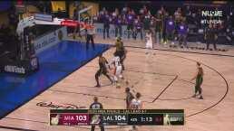 ¡Guerra de anotaciones entre Lakers y Heat en los últimos instantes!