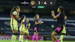 ¿Semifinal definida? Rayadas golea 1-4 al América Femenil en la Ida