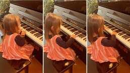 """Kailani ya toca el piano sin ayuda de su mamá y sorprende a Aislinn Derbez: """"Wow"""""""