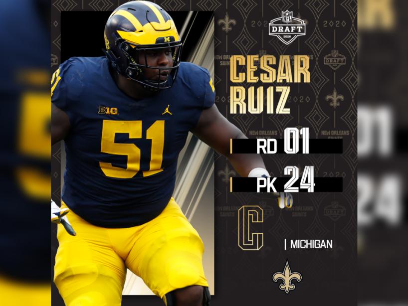 Cesar Ruiz, Draft NFL, 1.png