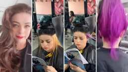 Violeta Isfel le hace honor a su nombre y se tiñe el cabello de violeta