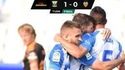 ¡Triunfazo! Leganés con un hombre menos venció 1-0 a Valencia