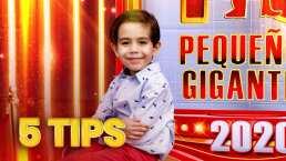 Mateo te comparte 5 sabios tips que te servirán para ser un Pequeño Gigante