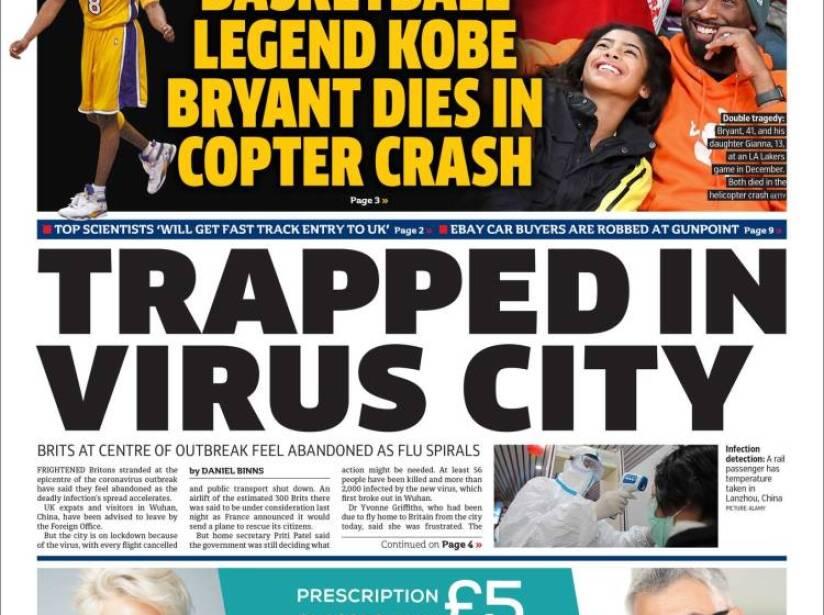 Kobe Bryant, periódico, METRO.jpg