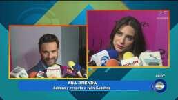 Ana Brenda e Iván Sánchez se reencuentran en un evento