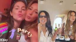 Camila Sodi y Geraldine Bazán siguen disfrutando de sus vacaciones, ahora con noche mágica de películas