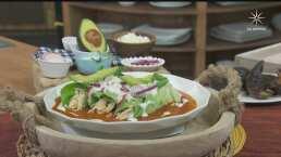 Recetas sin pan para bajar de peso: Enchiladas de lechuga, rellenas de pollo