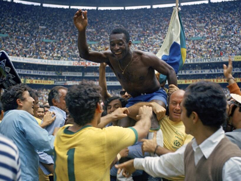 Pele ovacionado Mundial 1970 México