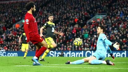 Mohamed Salah anotó un golazo en el partido ante Southampton.