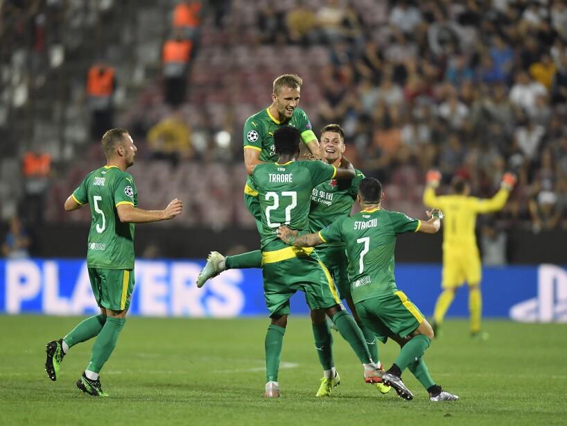 CFR Cluj v SK Slavia Praha - UEFA Champions League Playoff