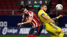 Luce Héctor Herrera en triunfo del Atlético ante el Cádiz