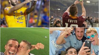 André-Pierre Gignac sorprendió con un festejo que popularizó el italiano Franceso Totti cuando jugaba para la Roma.