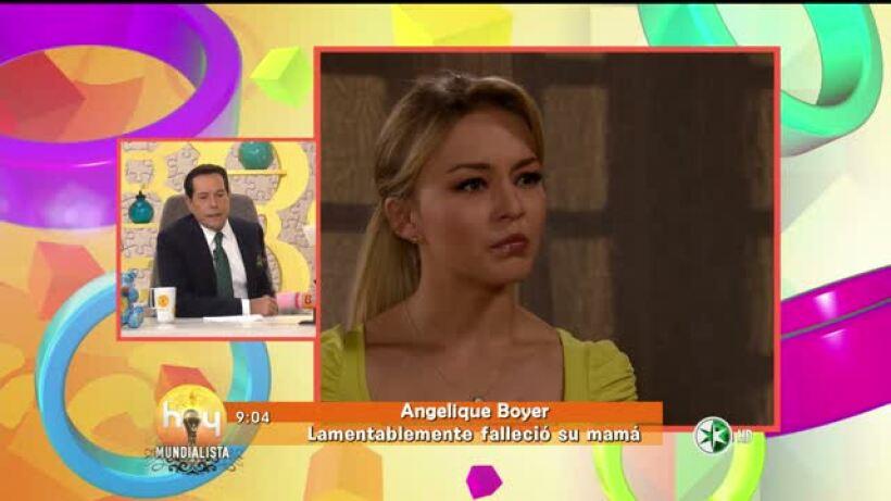 Muere la mamá de Angelique Boyer