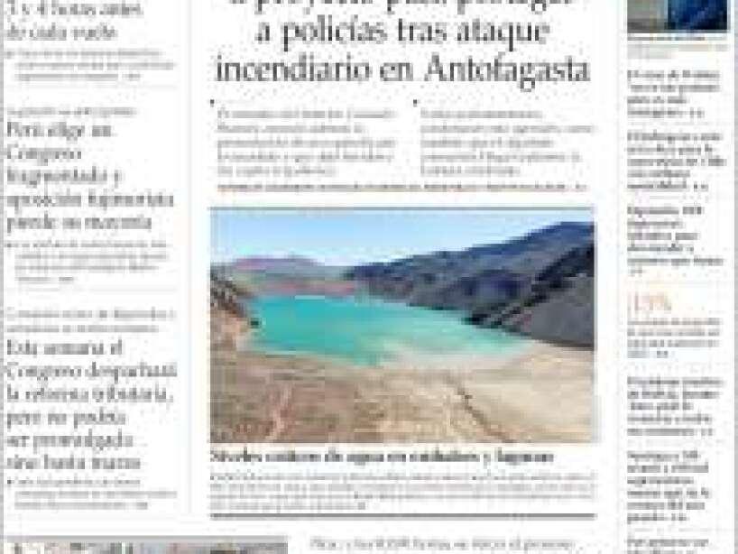 Kobe Bryant, periódico, EL MERCURIO.jpg