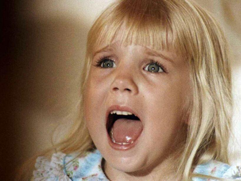 17. Heather ORourke: Murió a los 12 años por una intoxicación, aunque dicen que fue la maldición de la película Poltergeist.