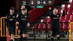 VIDEO   Imponentes dobletes de Messi y Griezmann para golear a Granada